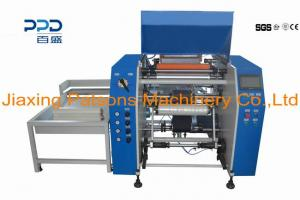 Automatic 3 turret changing stretch film rewinding machine